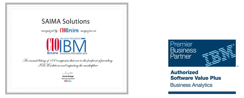 Saima Solutions 100 promising IBM Partners Business Analytics
