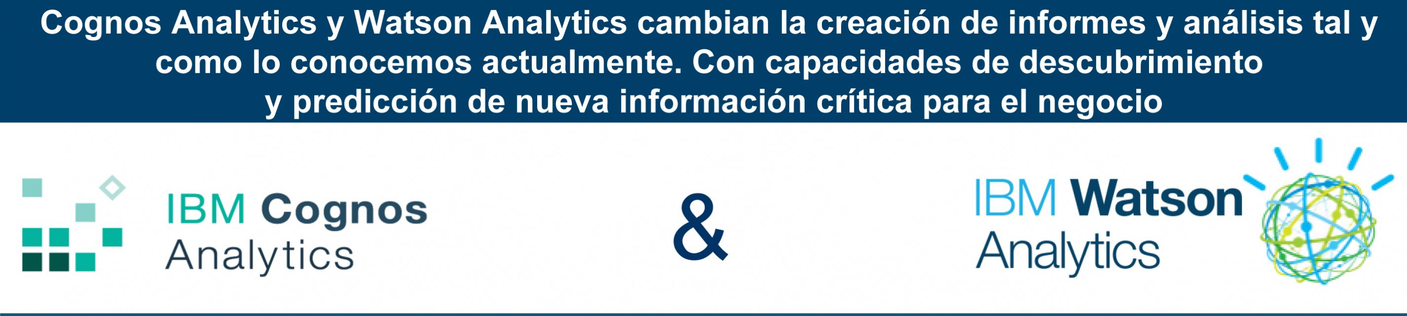 Cognos Analytics, Watson Analytics