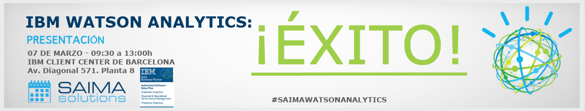 éxito Watson Analytics, WA, Saima Solutions, IBM